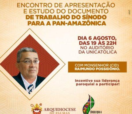 DOCUMENTO DE TRABALHO DO SÍNODO PARA A PAN-AMAZÔNICA SERÁ APRESENTADO EM ENCONTRO