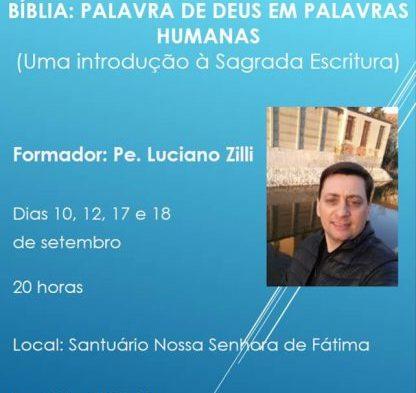 Encontro de Formação sobre a Bíblia acontecerá em Setembro na Capital
