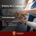 Festa da caridade será realizada no sábado, 14, no Centro Amor Social Papa Francisco