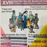 18º Encontro de Musicistas acontecerá na Comunidade São Pedro este mês