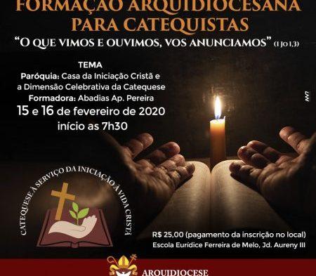 Arquidiocese de Palmas promove Formação para Catequistas na próxima semana