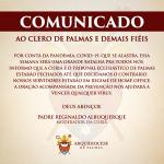 Atenção: Funcionamento da Cúria Metropolitana de Palmas