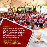Arquidiocese de Palmas em parceria com Fazenda da Esperança de Lajeado disponibilizarão abrigo para isolamento social durante pandemia