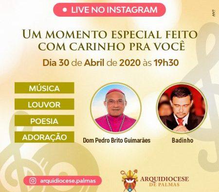 Dom Pedro Brito Guimarães expõe músicas autorais em live, nesta quinta-feira, 30