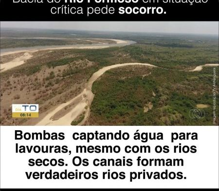 Movimentos e Pastorais Sociais protocolam documento no TJ pedindo revisão sobre captação de Água no Rio Formoso