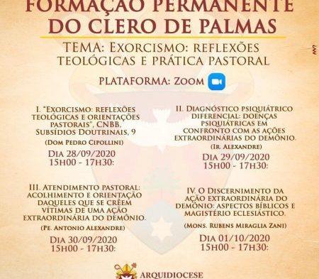 Exorcismo será o tema de Formação Permanente do Clero de Palmas