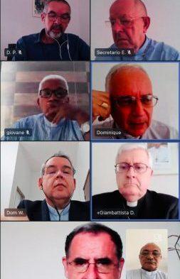 Em reunião virtual, arcebispo Dom Pedro Brito, apresenta realidade do Regional Norte 3 ao Núncio Apostólico no Brasil.