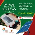 Arquidiocese de Palmas lança projeto de energia solar