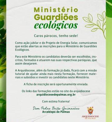 MINISTÉRIO DE GUARDIÕES ECOLÓGICOS